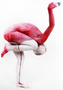 Bodypaint Flamingo