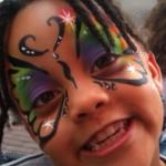 schminker schminkt regenboog vlinder