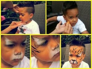 schminken stap voor stap tijger