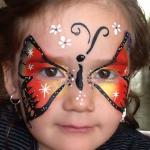 Schminken regenboog vlinder